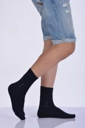 Pamuk Havlu Erkek Soket Çorabı Lacivert E Art216