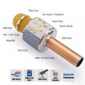 Sihirli Karaoke Mikrofon Bluetooth Fm Radyo Sd Kart Aux Ses Usb
