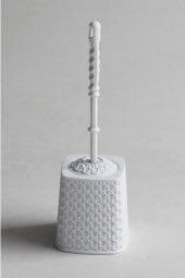 örgü Desenli Beyaz Rengi Plastik Klozet Fırçası...