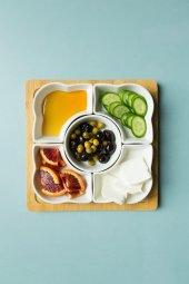 Seramik 5 Li Ahşap Kahvaltı Seti