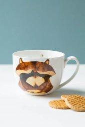 Sincap Desenli Seramik Kupa Bardağı