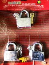 Tek Anahtarla Açılan 3lü Asma Kilit Seti 50 Mm