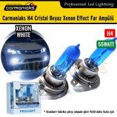 Carmaniaks H4 Cristal Beyaz Xenon Effect Far Ampülü