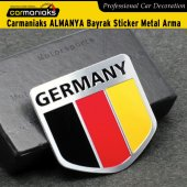 Carmaniaks Germany Bayrak Sticker Metal Çelenk Arma