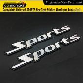 Carmaniaks Universal Sports New Tech Sticker Aluminyum Arma Gümüş