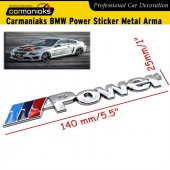 Carmaniaks Bmw Power Sticker Metal Arma
