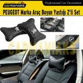 Peugeot Marka Deri Boyun Yastığı 2li Set Carmaniaks Crm8009
