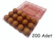 15 Li Plastik Pembe Yumurta Viyolü 200 Adet