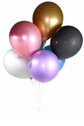 7li Balon Standı (7 Renk Krom Metalik Balon Hediye)