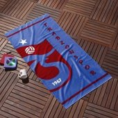 Taç Outlet Trabzonspor Mavi Logo Plaj Havlusu
