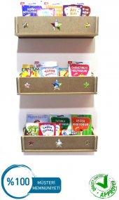 Kitaplık Duvar Rafı Çocuk Bebek Odası Montessori Ahşap (1 Ad)
