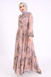 Loreen Kadın Pudra Elbise
