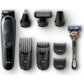 Braun Mgk 5080 Erkek Bakım Kiti Autosense Teknoloji Siyah&mavi Kablosuz Islak&kuru 9in1 Şekillendirici + Gillette Hediye