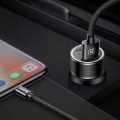 Iphone 5 Araç Şarj Seti Baseus Small Screw 3.4a