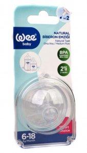 Wee Baby Natural Biberon Emzigi 6 18 Ay+ 12 Adet