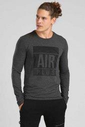 Tommy Life Air Plus Baskılı Antrasit Erkek Sweatshirt