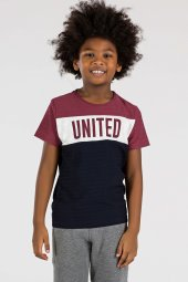 Tommy Life Basic United Bordo Çocuk Tshirt