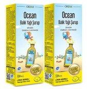 Ocean Balık Yağı Şurubu Limon Aromalı 150 Ml 2li Paket