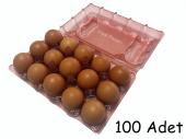 15 Li Plastik Pembe Yumurta Viyolü 100 Adet