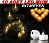 10 Adet Pilli Mum Led Işıklı Pilli Mum Led Gece Lambası