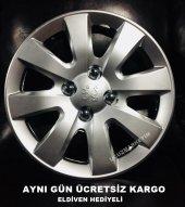 Peugeot Uyumlu 15 İnç Jant Kapağı Kelepçe Hediyeli...