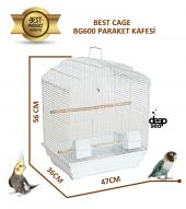 Best Cage Büyük Kapılı Ufak Irk Papağan Kafesi 47x36x56 Cm