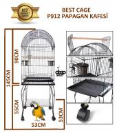 Best Cage P912 Sehpalı Papağan Kafesi Gold 53x53x145 Cm.
