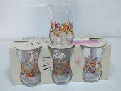 Lav Çay Bardağı Düz Çiçek Dalı 6lı