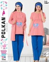 Polkan 13047 Bayan 3lü Hamile Lohusa Pijama Takımı