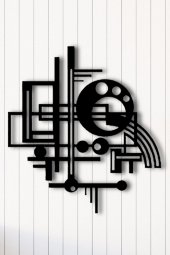 Angemiel Home Geometrik Dekoratif Metal Duvar Tabl...