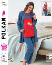 Polkan 13023 Bayan 3lü Hamile Lohusa Pijama Takımı
