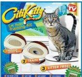 Kedi Tuvaleti Eğitim Seti Pet Zoom Citi Kitty Kedi Klozeti