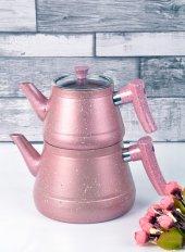 Bayev Granit Renkli Çaydanlık Takımı(Pembe) 200459...