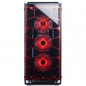 Corsaır Crystal Series 570x Rgb Atx Mid Tower Case Red