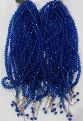 Plastik Kristal Tesbih 99 Lu 4134 (10 Adet) Saks Mavi