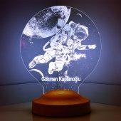 3d Led Lamba 3 Boyutlu Astronot Kozmonot Kişiye Öz...
