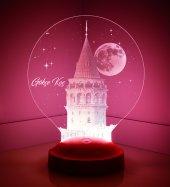 3d Led Lamba 3 Boyutlu Galata Kule Kişiye Özel Hediye Gecelambası