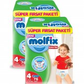 Molfix Pants Külot Bez Süper Fırsat Paket Maxi 4 Beden 76x2 152 A