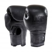 G4f Kickboxıng Gloves Leather Black Black (Gf0070)