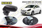 Niken Araca Özel Opel Corsa E Vidasız Kol Dayama Kolçak Siyah 2014 Üzeri