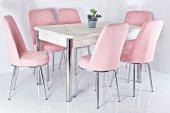 6 Kişilik Mutfak Masası Taytüyü Masa Sandalye Takımı Yemek Masası Açılır Masa Kelebek Masa