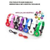 Polygold Pg 6460 Mikrofonlu Kulaklık Mp3 Hediyeli