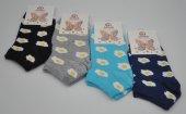 Sahab Bayan Çiçek Desenli Patik Çorap 6 Adet