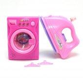 Oyuncak Çamaşır Makinası Ve Ütü Seti Pilli