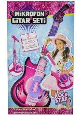 Mikrofonlu Pembe Gitar Seti
