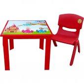 çocuk Masa Sandalye Takımı Kırmızı Prenses
