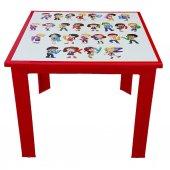 çocuk Masası Plastik Kırmızı Alfabe Resimli H40...