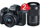 Canon Eos M50 + 15 45mm + 55 200mm Lens Aynasız Fotoğraf Makinası