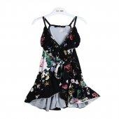 Zekids Kız Çocuk Çiçek Desenli Penye Elbise
