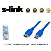 S Link Slx U30 1.5m Gold Usb3.0 Uzatma Kablosu